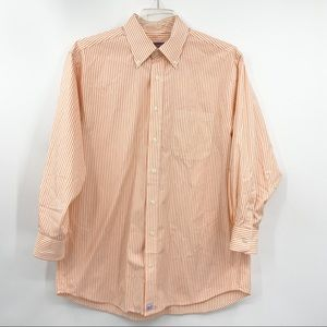 VINEYARD VINES Orange Stripe Button Murray Shirt